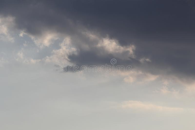 Spring clouds before storm. Photo 3 stock photo