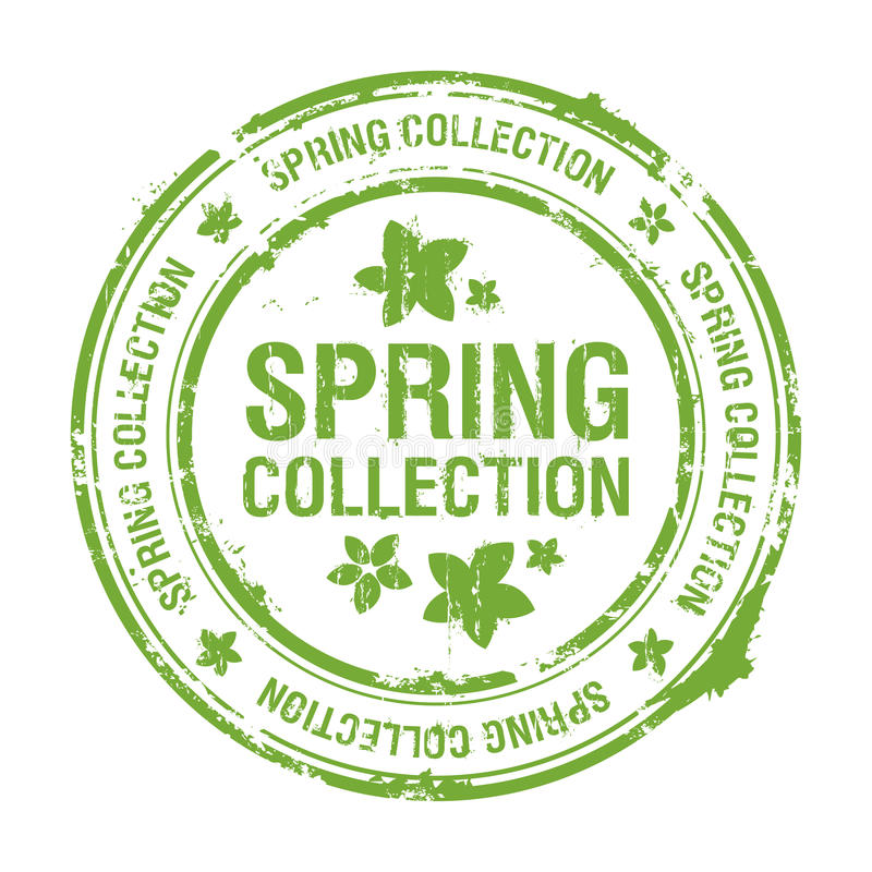 Download Spring collection stamp stock vector. Image of graphic - 13169564