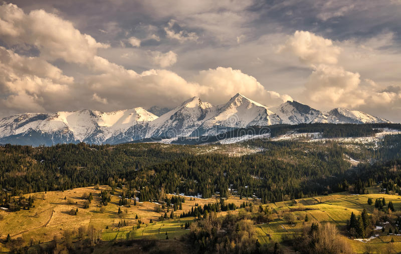 Spring comes to the snowy high tatra mountains in Poland royalty free stock photos