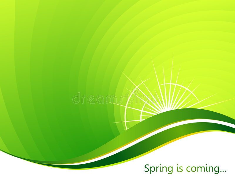 Spring is coming royalty free illustration