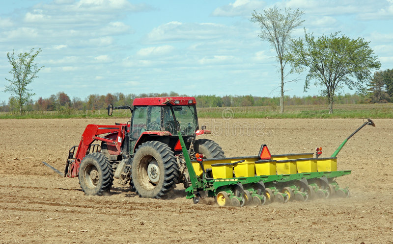 Download Spring crop planting stock photo. Image of farmer, seeder - 5274024