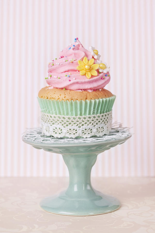 Spring cupcake stock photography