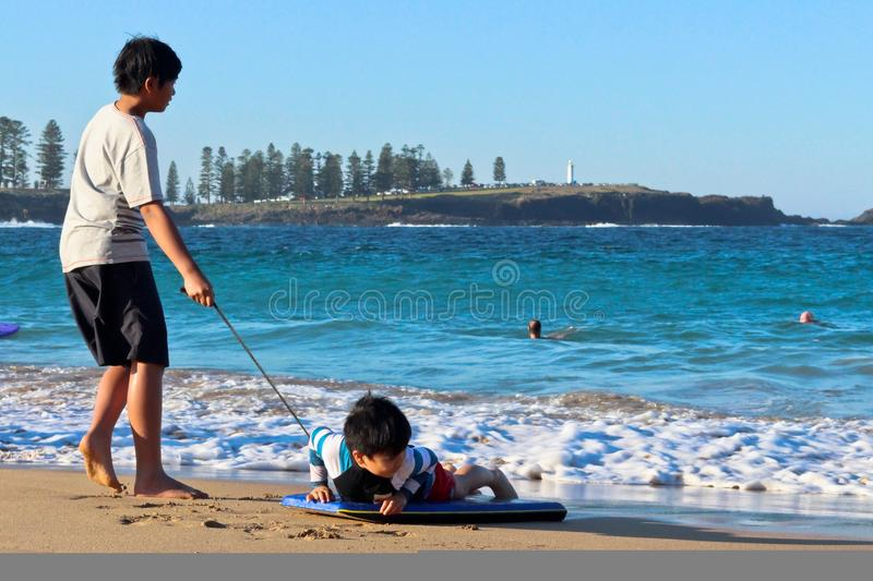 Spring day at Kendalls Beach, Kiama royalty free stock photography