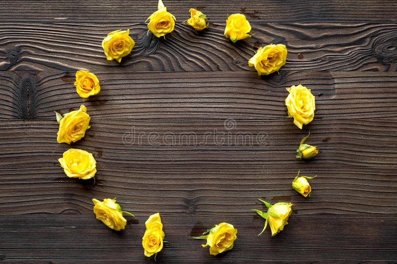 Download Spring Design With Roses On Wooden Desk Background Top View Mockup Stock Image - Image of love, color: 90003741