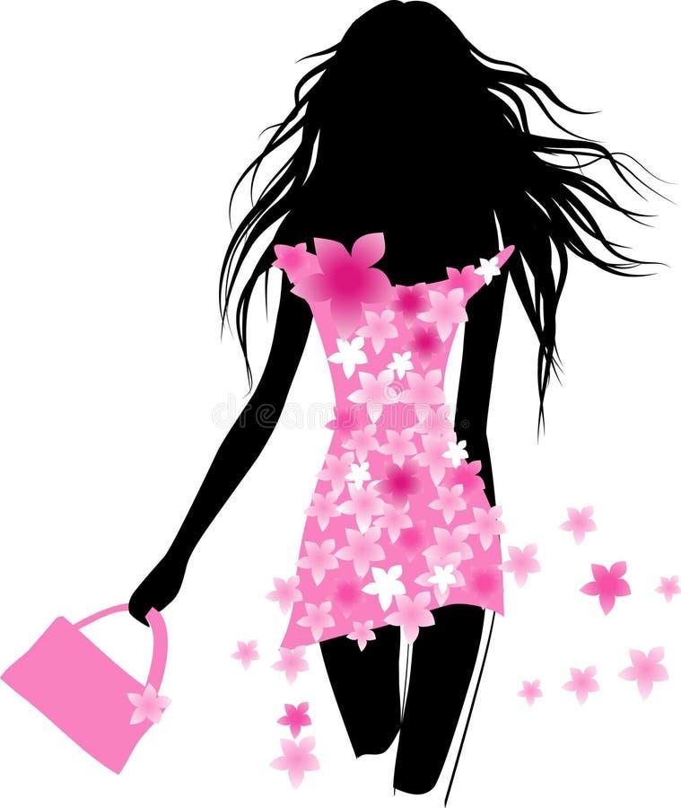 Download Spring dress stock vector. Image of pattern, gait, long - 13256491