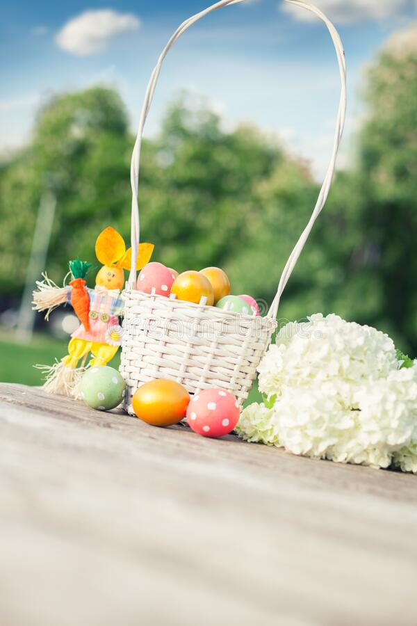 Spring and Easter background stock photography