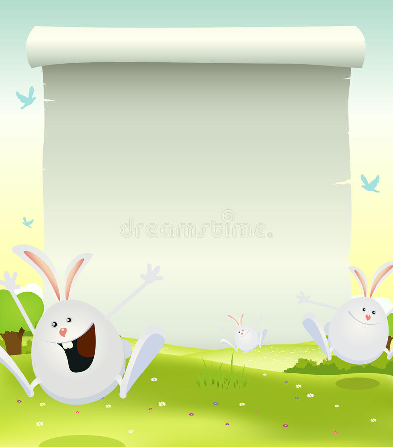 Download Spring Easter Bunnies Background Stock Photo - Image: 23855200