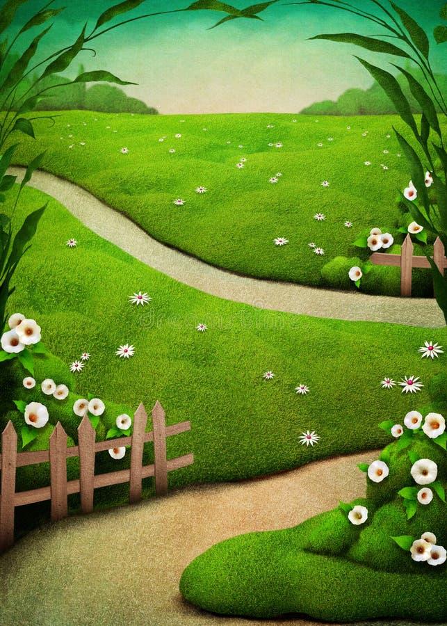Spring Easter postcard vector illustration