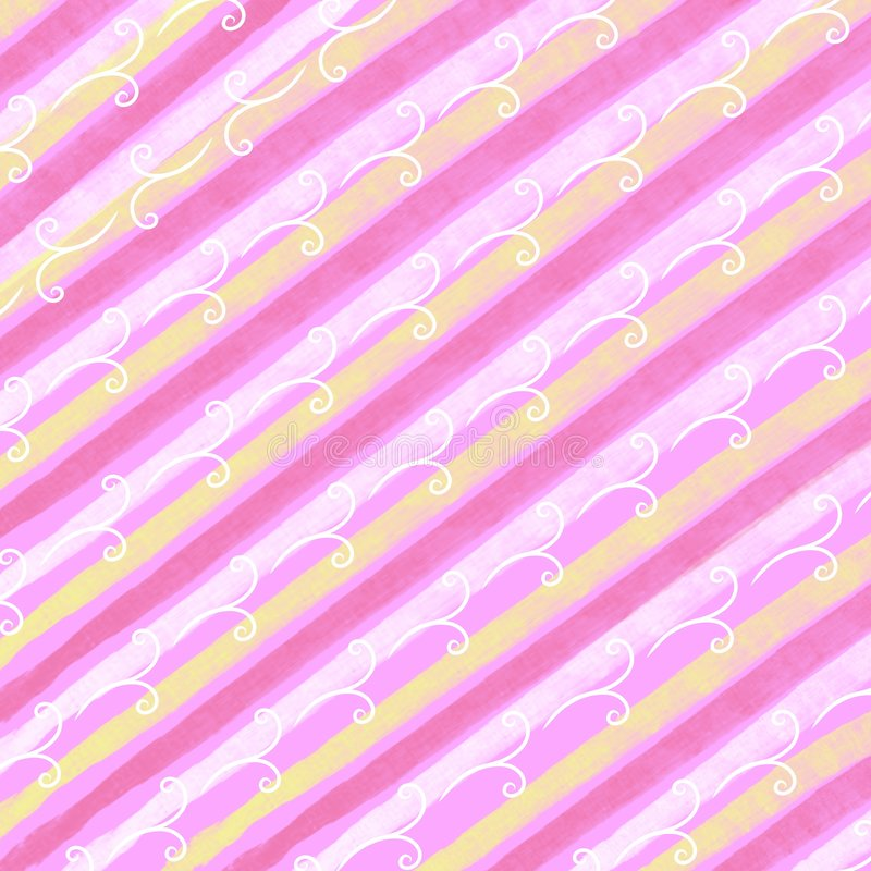 Spring Easter Stripes Pattern. A background pattern featuring colourful spring/easter theme stripes in mainly pink, yellow and white colors with just a touch of stock photography