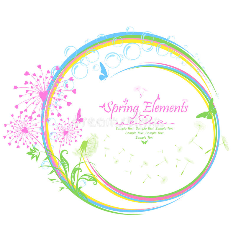 Download Spring elements stock vector. Image of green, frame, curve - 30494393