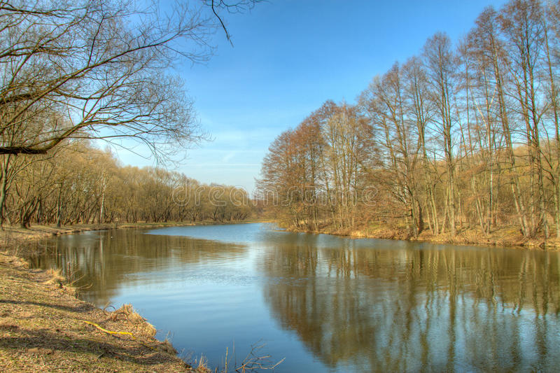 Spring in Europe. HDR photo. Picturesque landscape in Europe stock photos