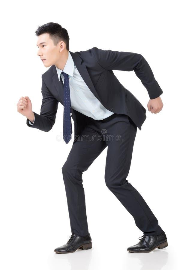 Spring för affärsman royaltyfri bild