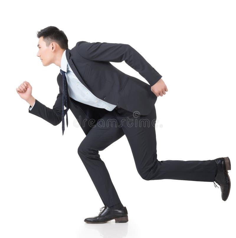 Spring för affärsman royaltyfri foto