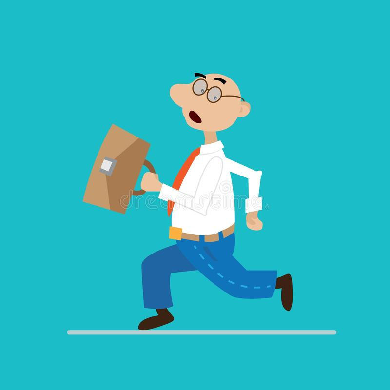 Spring för affärsman med portföljen vektor illustrationer