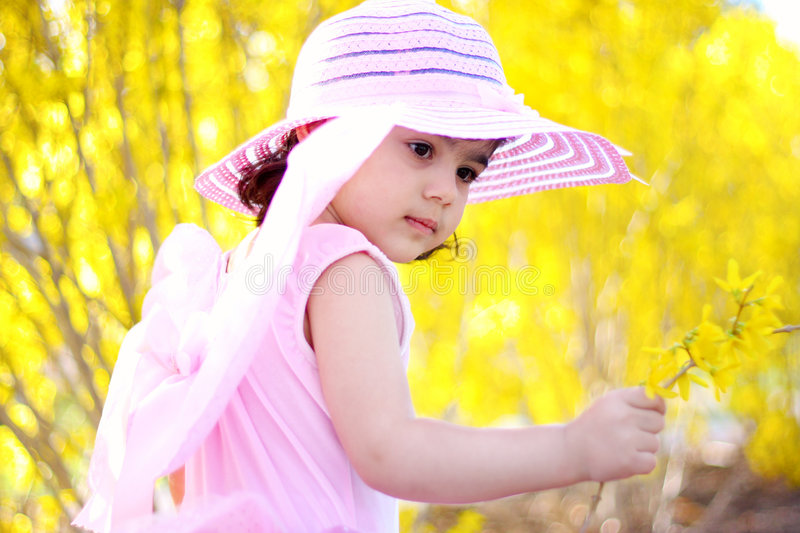 Download Spring fairy4 stock photo. Image of yellow, toddler, beauty - 4987132