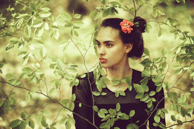Spring fashion, beauty and nature, youth and freshness, spa, relax stock photos