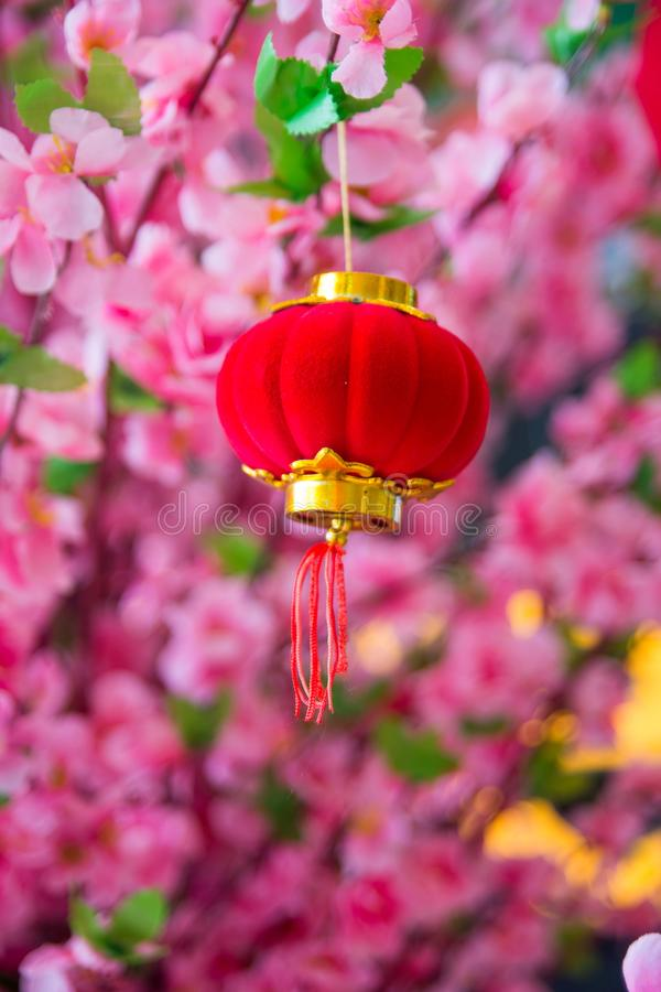 Spring festival Chinese New Year decoration stock photo