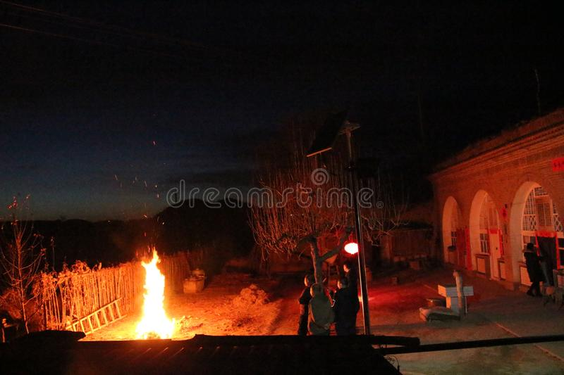 Wildfire after Spring Festival royalty free stock images