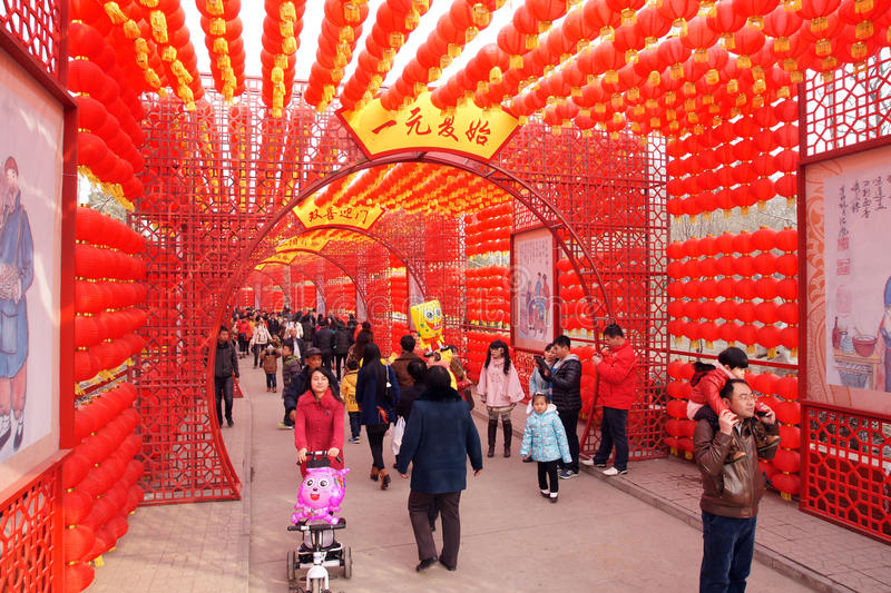 Spring Festival Temple Fair. The passageway of Spring Festival Temple Fair in Taiyuan,Shanxi,China royalty free stock image