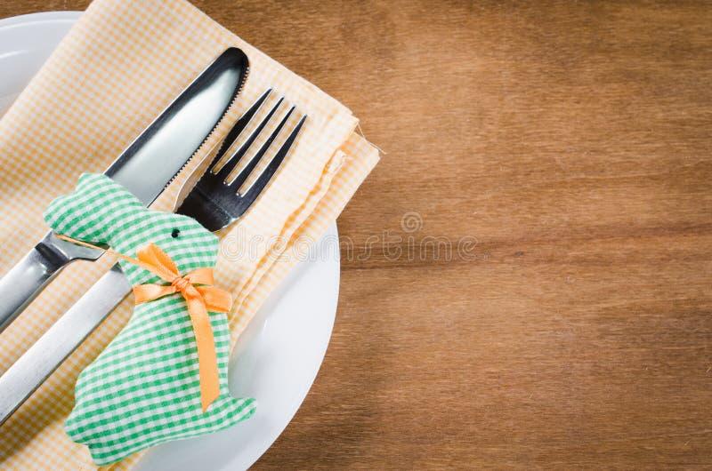 Spring Festive Table Setting For Easter Dinner. Stock Image - Image ...
