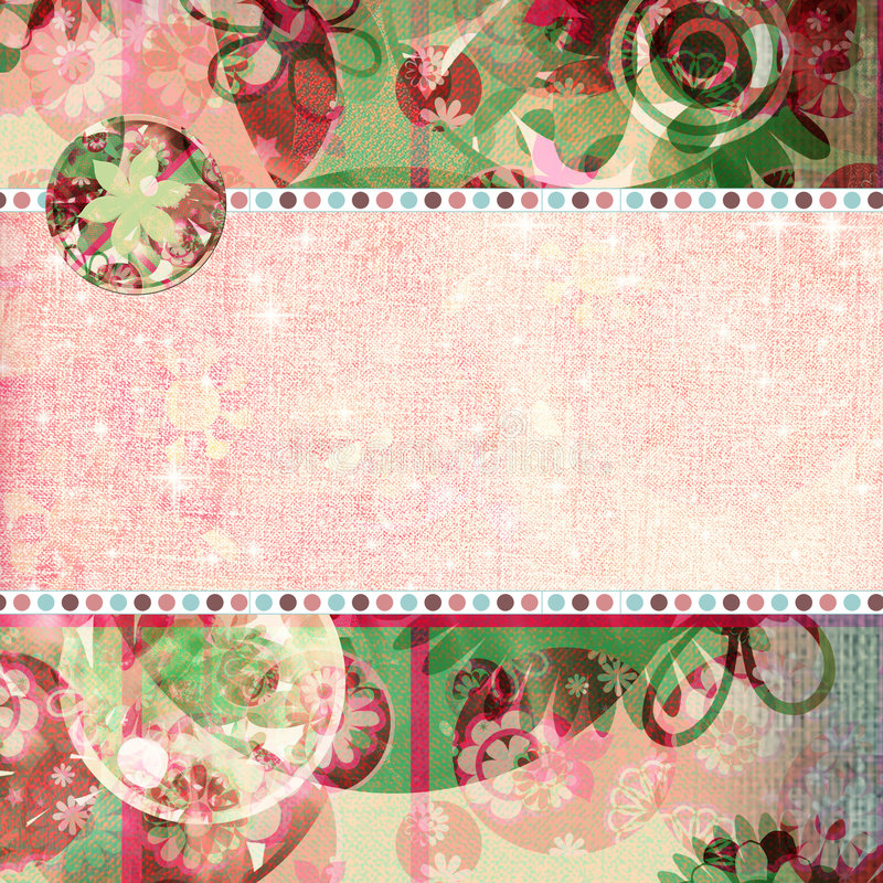Download Spring Fling Shabby Quick Page Stock Illustration - Illustration: 735828