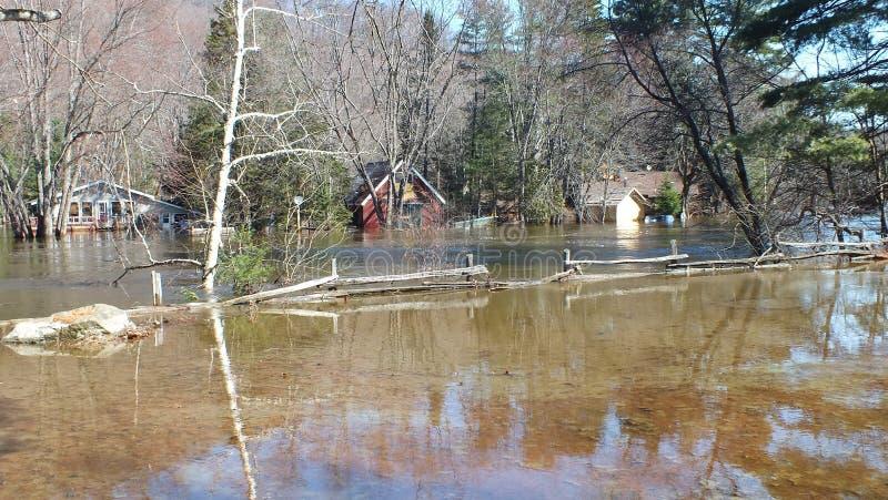 Spring Flood in Huntsville, Ontario, 2013 stock photos