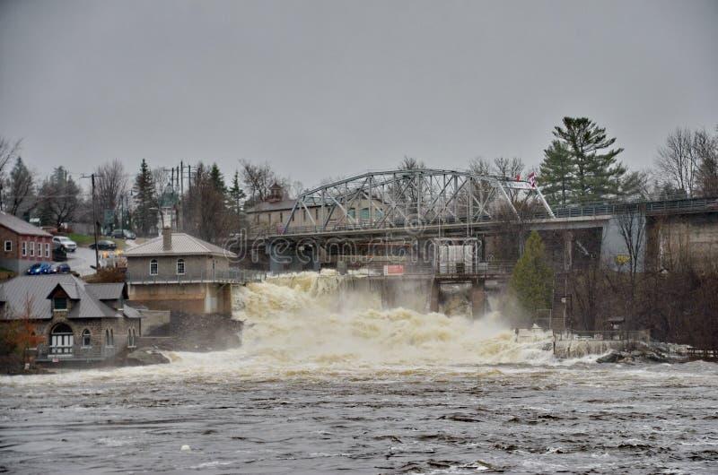 Spring Flood in Bracebridge, 2019 royalty free stock photos