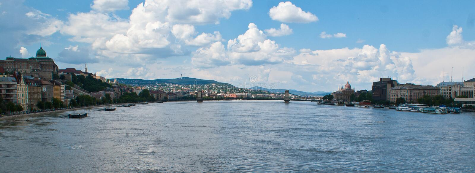 Danube flood in Budapest royalty free stock photo
