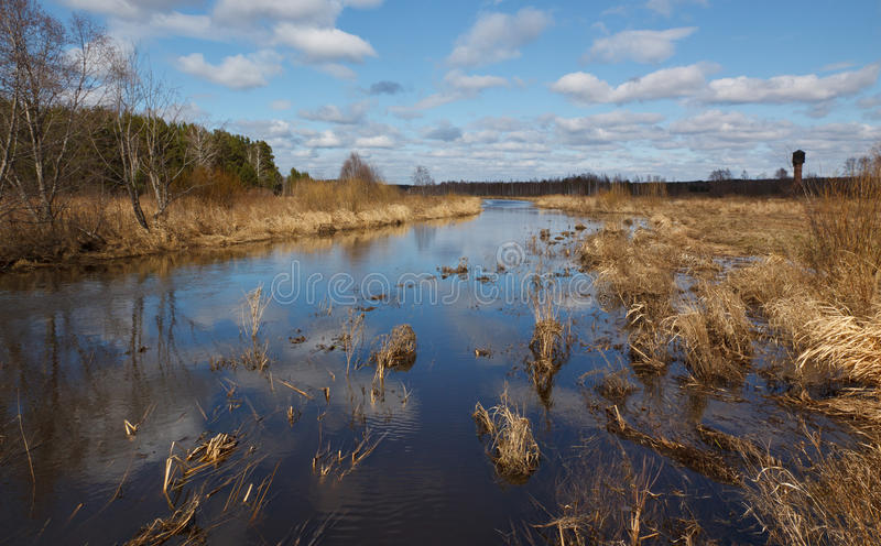 Download Spring Flooding On The River Stock Photo - Image: 25477740