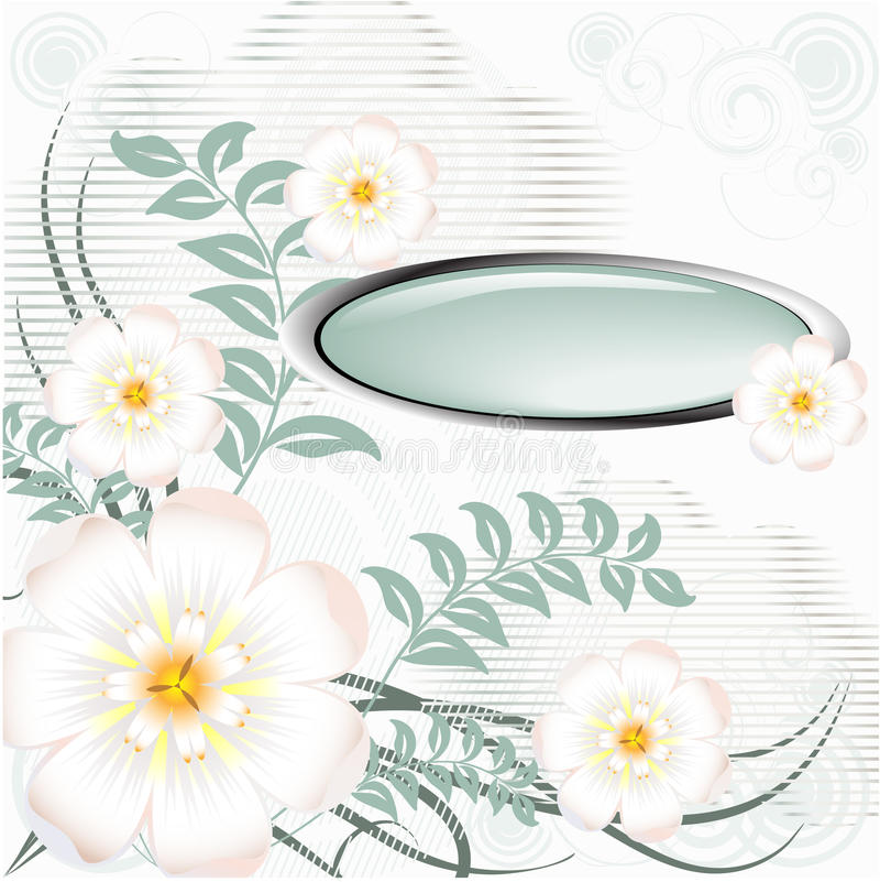 Spring floral background stock illustration