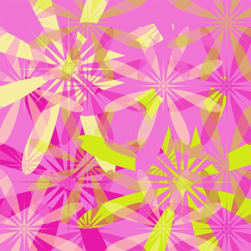 Spring floral background - pink stock illustration