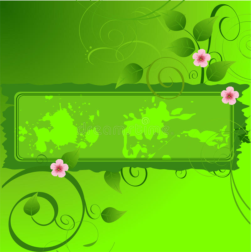 Download Spring Floral banner stock vector. Image of spring, curl - 13417519