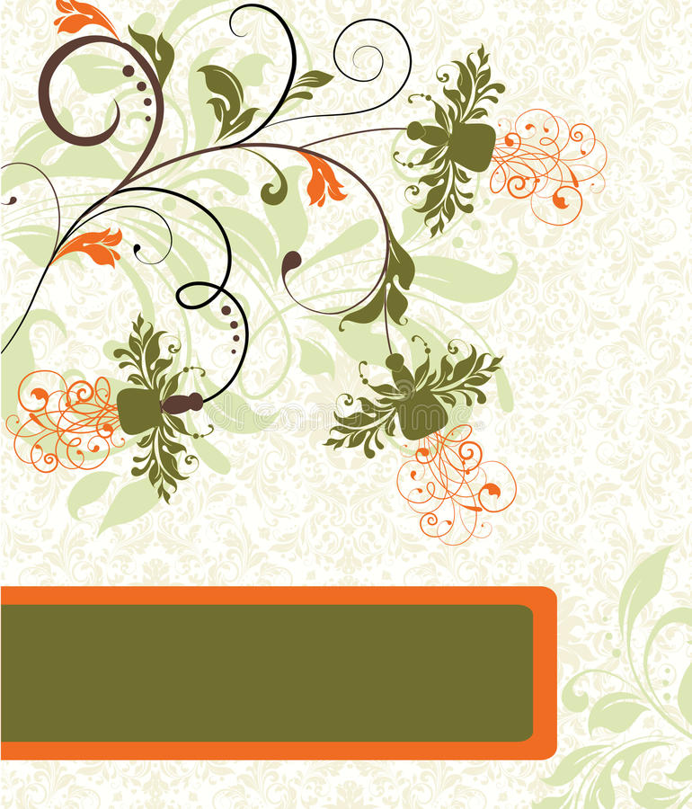 Spring Floral Card Stock Image
