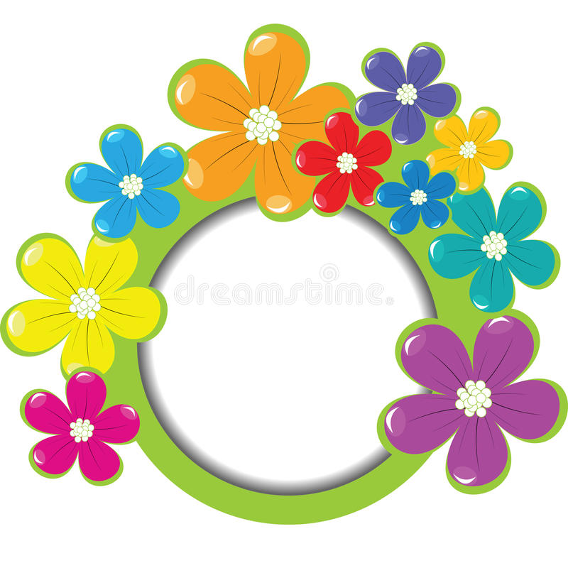 Spring floral frame with place for your text stock illustration