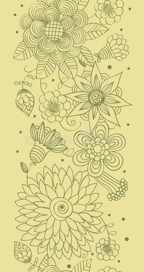 Spring floral seamless pattern stock illustration