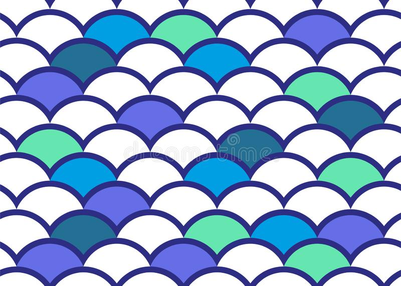Japanese style background. Water curve texture. Wave elements. Vector pattern vector illustration