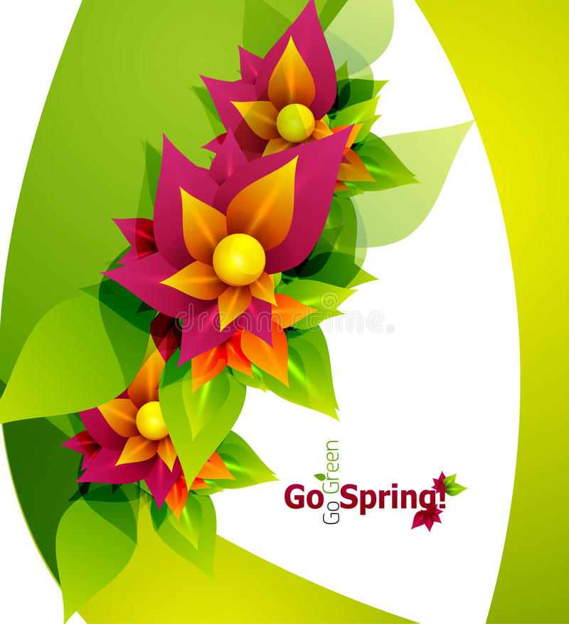 Spring flower abstract background vector illustration