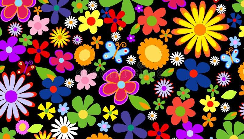 Spring flower background stock illustration