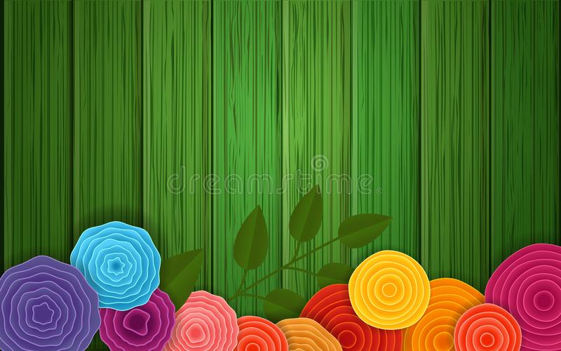 Spring flower background. Vector poster royalty free illustration