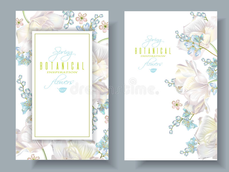 Spring flower banners royalty free illustration