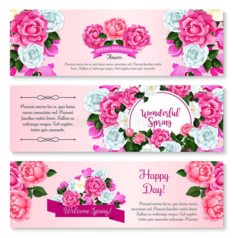 Spring flower bouquet for greeting banner template stock vector download spring flower bouquet for greeting banner template stock vector illustration of label holiday mightylinksfo