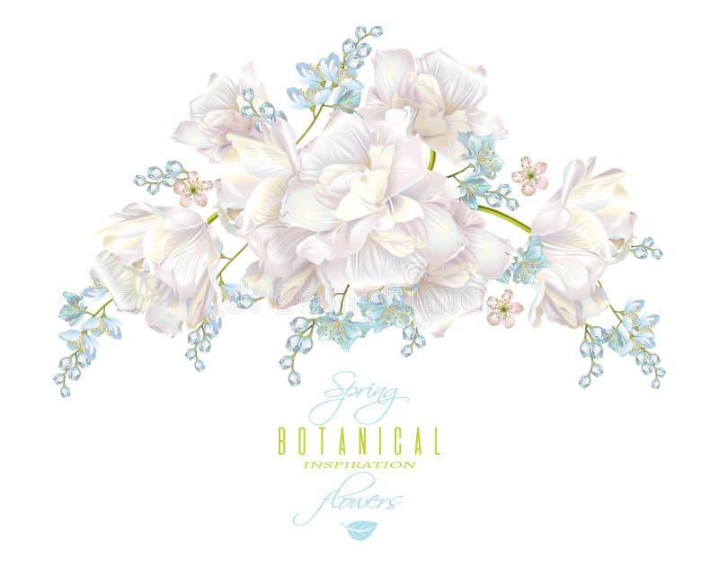 Spring flower composition stock illustration