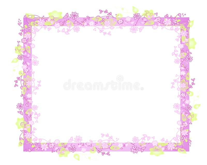 Spring Flower Vine Frame Or Border Royalty Free Stock Image