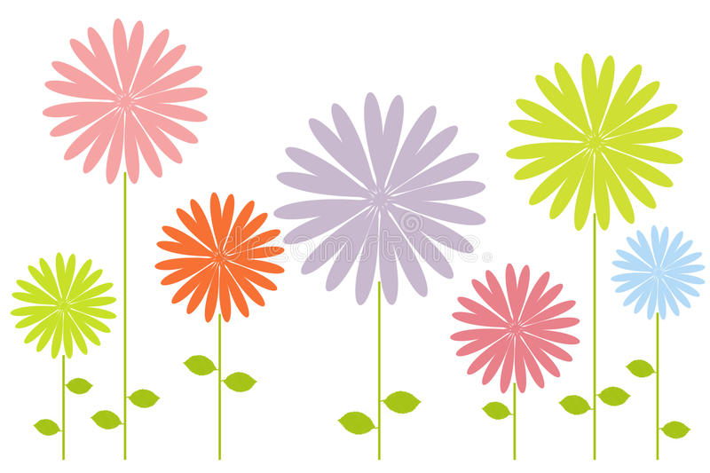 Download Spring flowers stock illustration. Image of leaves, card - 13309634