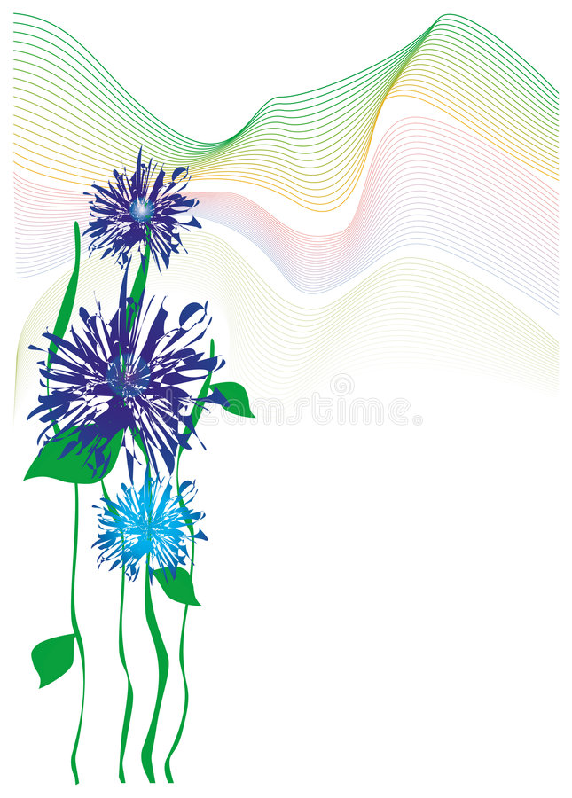 Spring flowers vector illustration