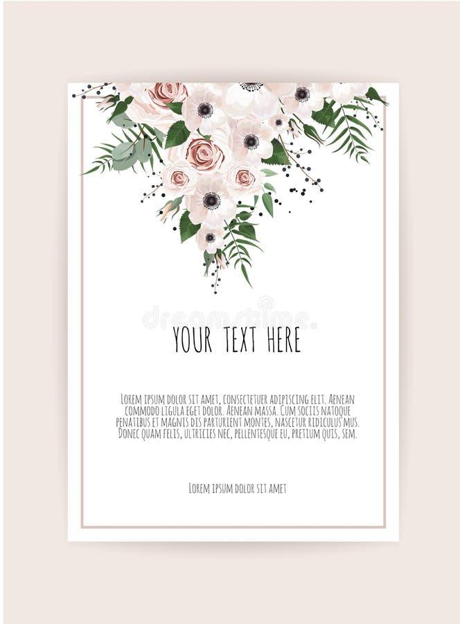 Spring flowers bouquet for vintage card. Vector illustration.  stock illustration