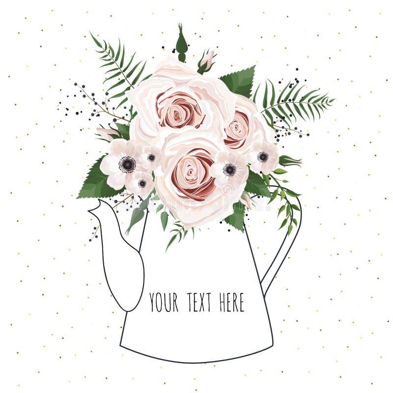 Spring flowers bouquet for vintage card. Vector illustration.  vector illustration
