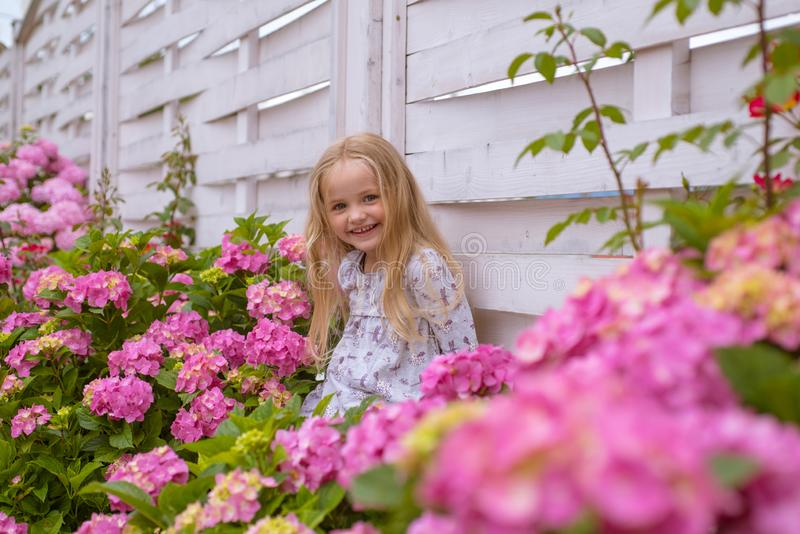 Spring flowers. Childhood. Summer. Mothers or womens day. Childrens day. Small baby girl. New life concept. Spring royalty free stock photo