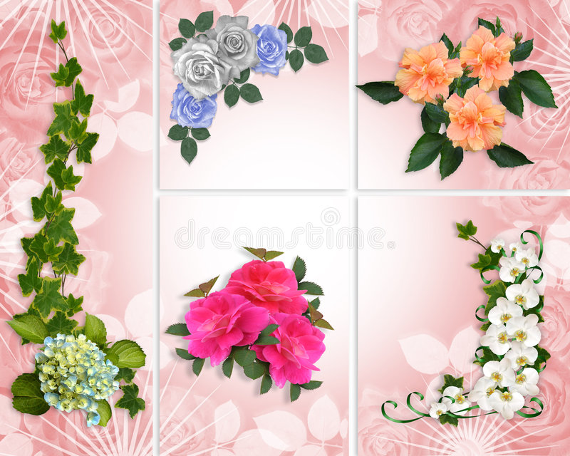Spring Flowers collage stock illustration