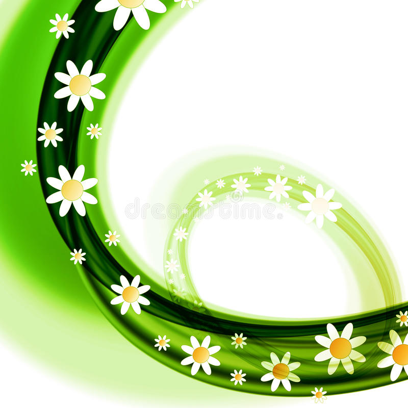 Spring flowers design stock photo